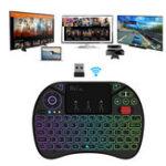 Оригинал RIIX8+цветfulсподсветкой 2.4G Air Мышь Mini Wireless Клавиатура Тачпад для Android TV Коробка Ноутбук