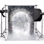 Оригинал Снежный лес Archway Волшебный Всемирная тематическая фотография Виниловый фон Studio Background 2.1mx 1.5m