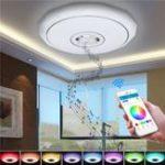 Оригинал 36W RGB Smart APP Control LED Потолочные светильники Bluetooth Музыкальная люстра для вечеринки домашнего декора