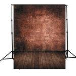 Оригинал 5x7ft Ретро Темно-коричневая стена Дерево Тематическая фотография Vinyl Background Back for Studio 1.5×2.1m