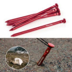 Оригинал Naturehike NH17D024-D 6Pcs Tent Pegs 7001 Aluminium Alloy Nails Camping Stake Accessories