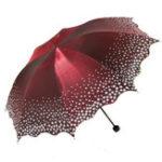 Оригинал Pear Flower Blossom Parasol Пляжный Umbrella Folded Для взрослых Lace Sun Umbrella Солнечный зонт Дождь Женское