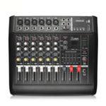 Оригинал PMX602D-USB 6-канальный 110-220v 300 Вт Karaoke Power Stero Усилитель Студийная микшерная консоль