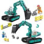 Оригинал Экскаватор KAZI Building 1 Изменить 2 Набор блоков Совместимые Legoed City Educational Gift Toy