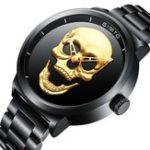 Оригинал GIMTOGM244ЧерепШаблонСтальныечасы Стандарты Кварцевые мужские часы