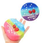 Оригинал Звездный Colorful Мускусный торт Squishy 11.5 * 4.5CM Медленный Rising Collection Gift Soft Игрушка