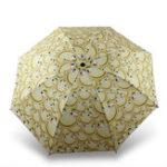 Оригинал Funny Emoji Umbrella Анти UV Rain Sun Складной компактный детский туристический зонтик