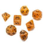 Оригинал 7 Piece Polyhedral Кости Set Multisided Кости С Кости Сумка RPG Ролевые игры Костиs Gadget