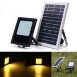 Оригинал 120 LED Солнечная Power Flood Light Датчик На открытом воздухе Сад Лампа Водонепроницаемы Теплый белый