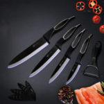 Оригинал XYJИзысканный6шт.Наборкухонных ножей Держатель Многофункциональная пилевая полая ручка Керамический Ножи