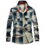 Оригинал Мужская хлопчатобумажная ткань для печати весны Pocket Доставка Рубашки рабочие