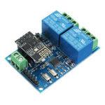 Оригинал 12V ESP8266 Двойной модуль ретрансляции WiFi Интернет вещей Smart Home Mobile APP Дистанционный Switch