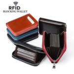 Оригинал RFIDМужчиныиЖенскоеНатуральнаяКожа 12 карточный слот-кошелек