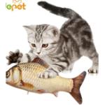 Оригинал Pet Кот Игрушки Кот Котенок Подушка Bite Chew Pillow Simulation Хлопок Фаршированные Рыбы Mint Pet Toys