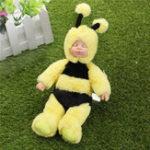 Оригинал 25см Cute Bee Одежда новорожденного Спящая Soft Винил Reborn Baby Кукла Подарочная игрушка