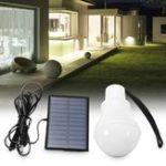 Оригинал 3W 120LM Солнечная Powered Светодиодный Bulb На открытом воздухе Кемпинг Пешеходная палатка Рыбалка Лампа