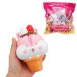 Оригинал Yummiibear Poli Hamster Мороженое Squishy 14 см Медленное восхождение с подарком коллекции упаковки Soft Игрушка