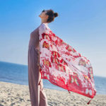 Оригинал Women Summer Print Beach Sunscreen Scarf