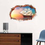 Оригинал Miico3DТворческийПВХстенынаклейки Home Decor Mural Art Съемные навигация наклейки