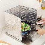 Оригинал АлюминиеваяфольгаМаслоБлокМаслоБарьерная плита Приготовление тепла Изоляция для защиты от брызг Масло Перегородка для