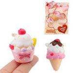 Оригинал Yummiibear Mini Ice Cream Squishy 5.5 * 3см Медленный рост с подарком коллекции упаковки Soft Игрушка