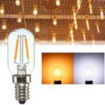 Оригинал E14 2W Теплый белый Чистый белый COB LED Винтаж Edison Лампа Свет лампы накаливания AC110V / 220V