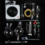 Оригинал Стеклянная паровая дистилляция Лабораторный аппарат Essential Масло Экстракция Набор 1500 мВт Катушка конденсатора