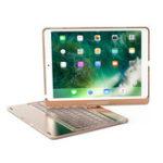 Оригинал 360º Вращение 7 цветов Подсветка Bluetooth Алюминиевая клавиатура для iPad Pro 10.5″