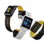 Оригинал Bakeey1.3inchIP68КровяноедавлениеСердце Скорость сна Монитор Фитнес Tracker Sport Smart Wristband