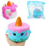Оригинал Squishy Unicorn Ice Cream Whale Cake 11 * 10 см Медленный рост с подарком коллекции упаковки Soft Игрушка