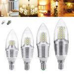 Оригинал E27 E12 5W 7W 9W 12W SMD 2835 Чистая / теплая белая лента LED Свеча Лампочка Люстра Лампа AC85-265V