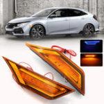 Оригинал ПараДвухцветныйЯнтарный+СинийLED Авто Сторона Маркерные огни Turn Lights для Honda Civic 2016-2018