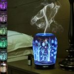 Оригинал 3D 7 Изменение цвета LED Night Light Humidifier Essential Диффузор Air Aromatherapy AC100-240V