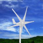 Оригинал 800W 12V / 24V / 48V 6 Nylon Fiber Лопасти Горизонтальные жилые ветровые турбины Ветрогенератор