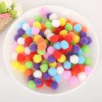 Оригинал Creative100pcs5РазмерSoftЦвет смешивания Pompom Fluffy Плюшевая ткань Craft DIY Soft Ball Fur Ball Home Decor