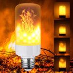 Оригинал 5W E12 E14 E27 E26 B22 3 Режимы LED Эффект огненного огня пламени Имитированная кукурузная лампа AC85-265V