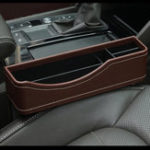 Оригинал 27X16cm Кожа PU Авто Seat Gap Storage Коробка Seat Slit Pocket Phone Holder