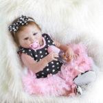 "Оригинал 18 ""Handmade Reborn Baby Dolls Реалистичный новорожденный Lifelike Vinyl Girl Baby Doll Toys"