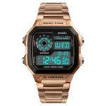 Оригинал SKMEI1335Модныйхронографизнержавеющей стали Цифровые часы