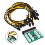 Оригинал 12pcs 6 + 2Pin Cable Breakout адаптер питания питания Набор для преобразования мощности сервера для горнодобывающей промышленности