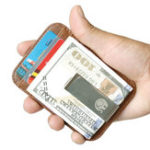 Оригинал RFIDБлокировкамужчинЖенскоеКожаныйтонкий кошелек Genuiner