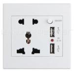 Оригинал 2.1A 110V-260V Dual USB Wall Разъем Переключатель Зарядное устройство AC / DC адаптер питания Разъемная панель