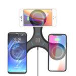 Оригинал Bakeey Gyro T200 3X Qi Беспроводная зарядная панель Двойной USB-зарядное устройство для нескольких устройств для iPhone X S9 S8