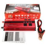 Оригинал LED Дисплей Инвертор питания 2000 Вт DC 12V до AC 110V LED 4UBS 2 AC Outlets Converter