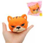 Оригинал Tiger Squishy 8 * 7 * 6.5cm Медленный рост с подарком коллекции упаковки Soft Toy