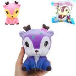 Оригинал Galaxy Deer Кукла Squishy 14.3 * 11.3 * 9.7cm Медленный рост с подарком коллекции упаковки Soft Игрушка