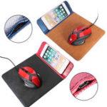 Оригинал Qi Беспроводная зарядка Мышь Pad Для iPhone X/8/8 Plus Samsung Galaxy S9/S9 Plus/Note 8/S8/S8 Plus