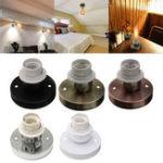 Оригинал AC110-240V E27 Edison Retro Лампа Держатель Винтаж Адаптер для настенной лампы Разъем