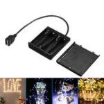 Оригинал DC5V 4 * AA Батарея Коробка Держатель Чехол USB-блок питания для LED Газовый свет
