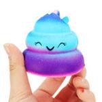 Оригинал Crazy Squishy Galaxy Poo Slow Rising Scented Cartoon Bun Stress Kawaii Toy Phone Кулон